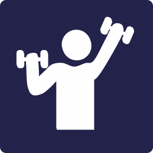 Lifting  dumbbells to get fit